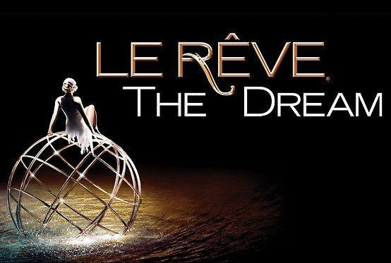 Le Reve Las Vegas is a show about a dream, where athletic artistry, aquatic choreography and aerial acrobatics weave an enchanting spell Le Reve Las Vegas is a show about a dream, where athletic artistry, aquatic choreography and aerial acrobatics weave an enchanting spell.